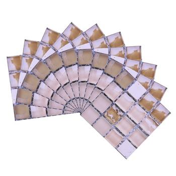 10*10cm Mosaic Self Adhesive Tile Wall Stickers Vinyl Bathroom Kitchen Home Decoration DIY PVC Stickers Decals Wallpaper 10pcs 12