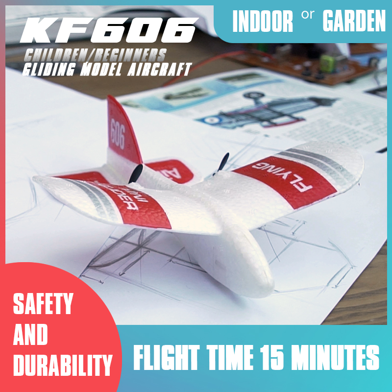 KF606 2 4Ghz RC Airplane Drone Flying Aircraft EPP Foam Glider Toy Airplane 15 Minutes Fligt Time RTF Foam Plane Toys Kids Gifts