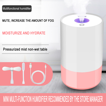 Mini Air Humidifier Car humidifier For Home USB Bottle Aroma Diffuser LED Backlight For Office Mist Maker Humidificatio Portable tomnew 3 in 1 mini cool mist humidifier 200ml auto shut off portable air diffuser with usb fan and led light for home office car