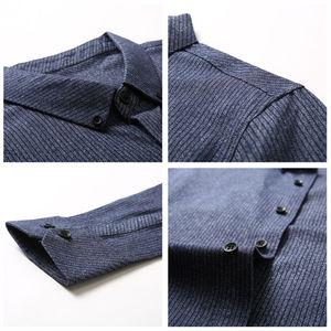 Image 5 - COODRONY Мужская рубашка из чистого хлопка, с длинным рукавом, Осень зима 2019, повседневная, деловая, 96077