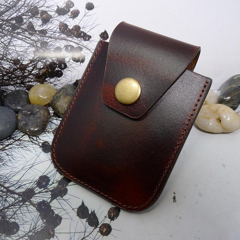 Blongk Universal Genuine Leather Car Key Case House Key Holder Mini Waist Pack Portable Belt Bag WD-TY