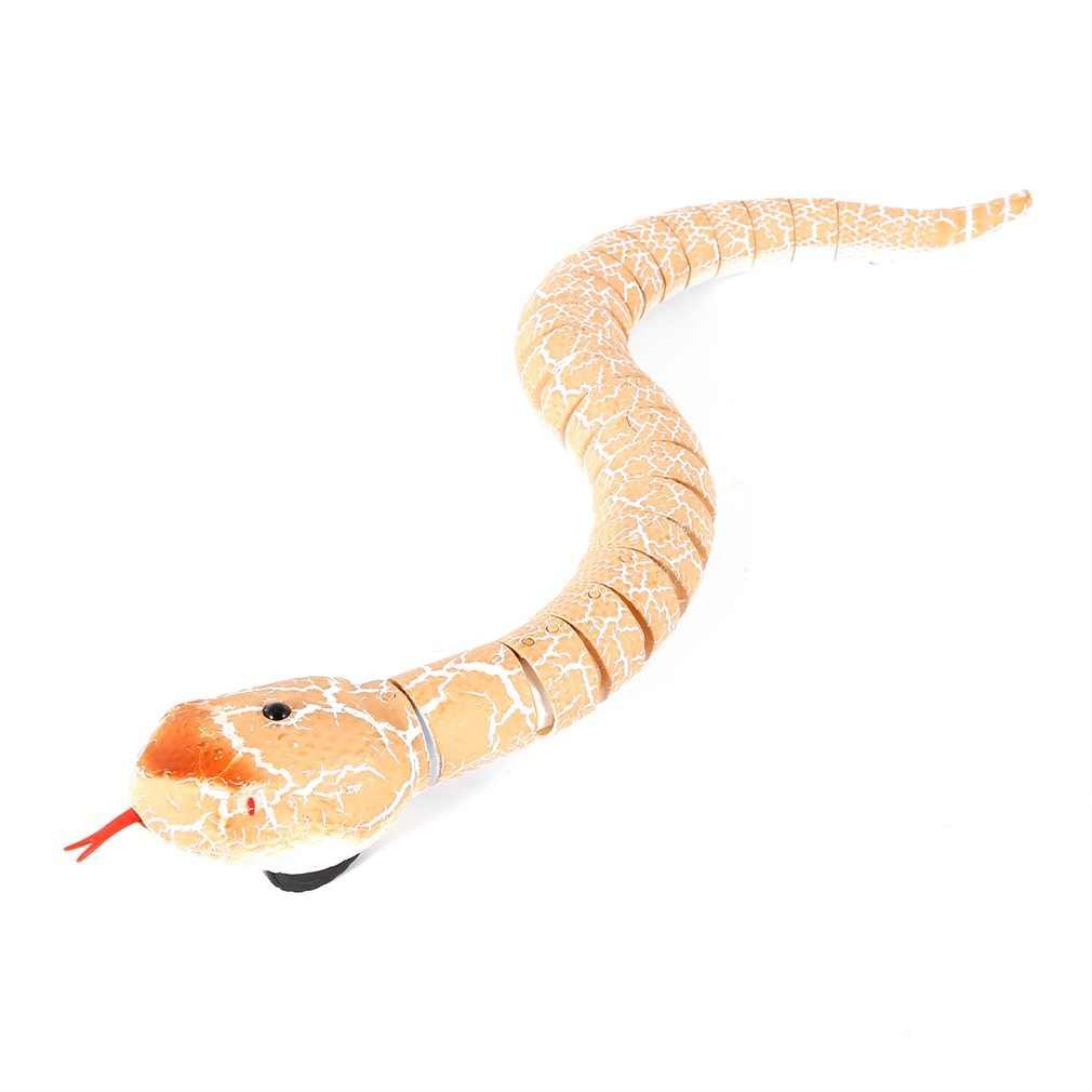 OCDAY RC Fernbedienung Schlange Weihnachten Kunststoff Ei Rattlesnake Tier Trick Erschreckend Unfug Spielzeug für Kid Lustige Neuheit Geschenk