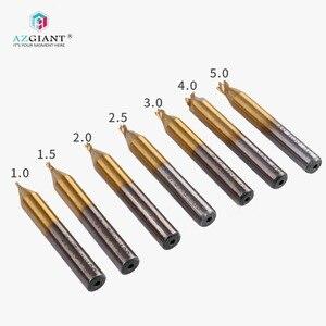 Image 1 - Defu מקורי 1/1.5/2/2.5/3/4/5mm טוויסט מקדח כרסום קאטר אנכי מפתח מסגר מכונת אביזרי טיטניום מצופה