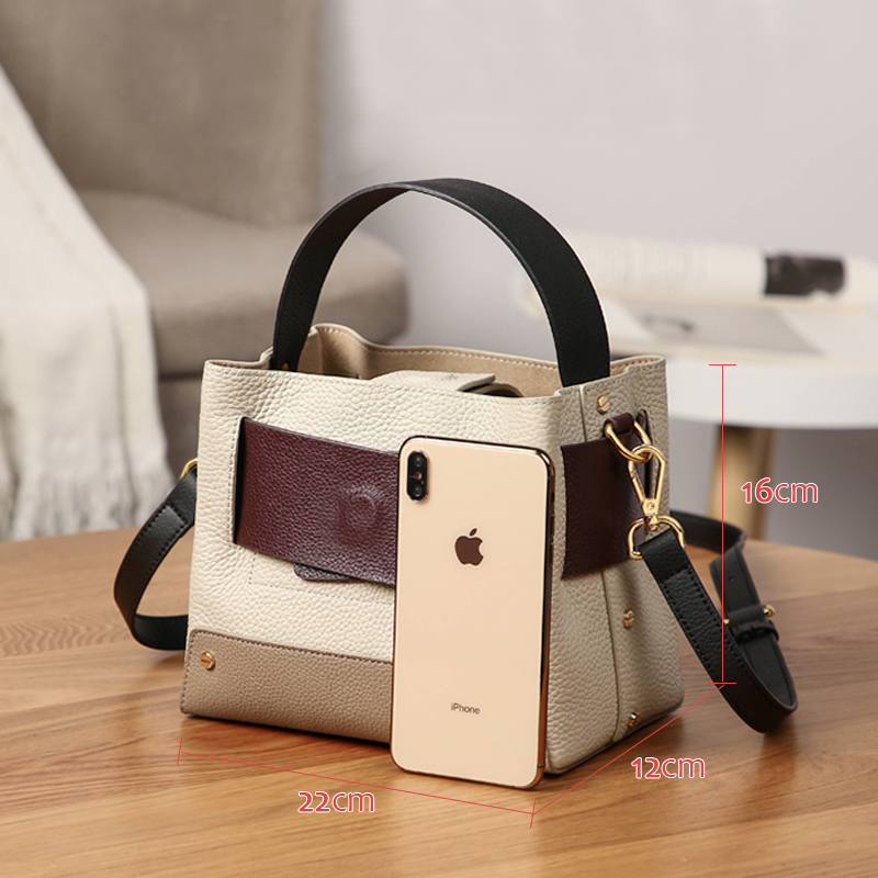 Women 100% Genuine Leather Handbags Luxury Shoulder Bags Clutch Crossbody Messenger Bag 2020 Female Tote Small Purse