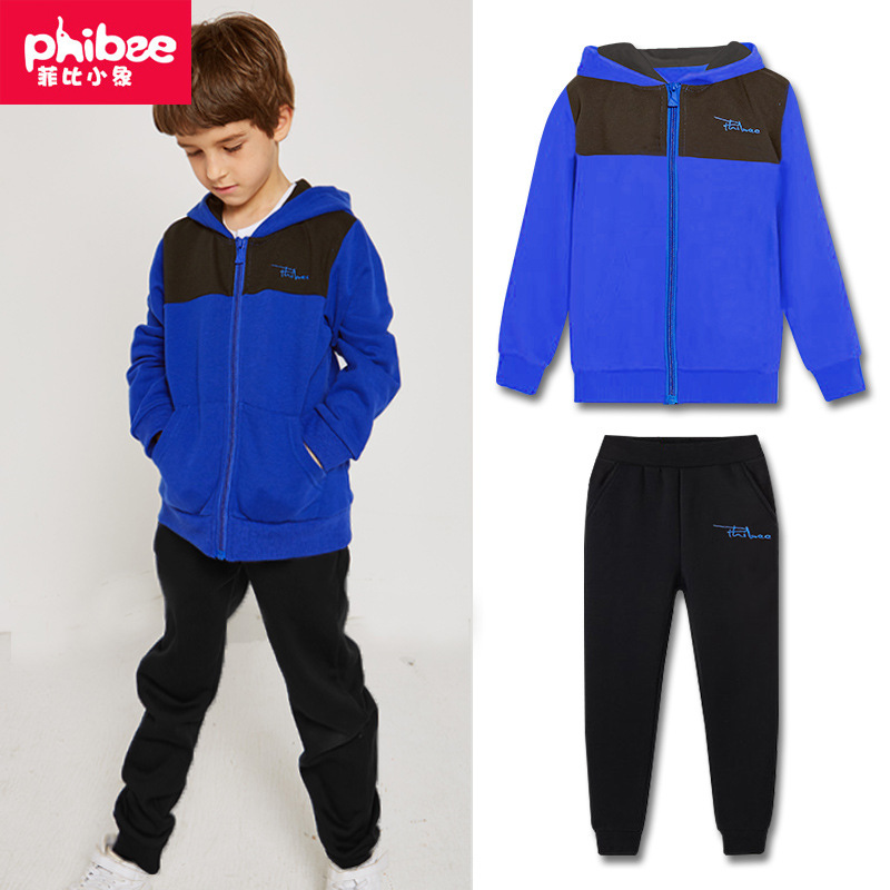 Childrenswear BOY'S Autumn Clothing 2019 New Style Set Big Boy CHILDREN'S Sports Suit Two-Piece Set Thick Casual Western Style