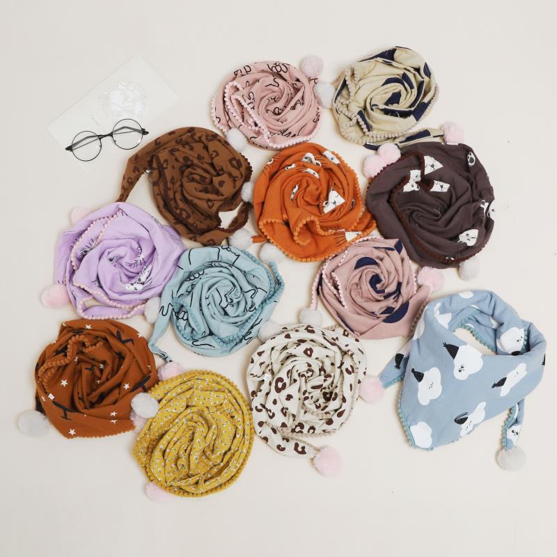 Детский шарф треугольный для маленьких девочек и мальчиков осень