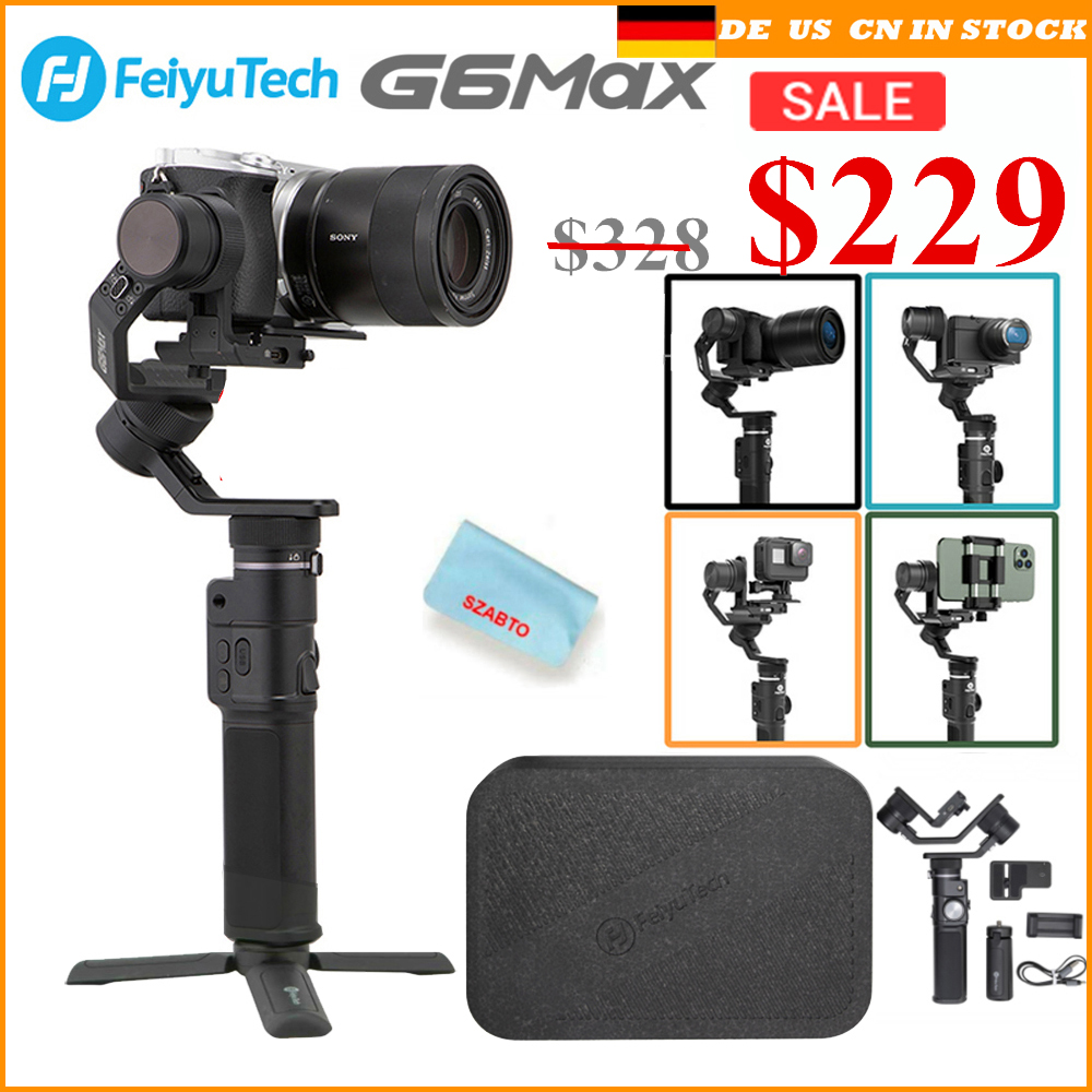 Feiyu G6 Max <font><b>3</b></font>-Axis Handheld Camera Gimbal Stabilizer for Mirrorless camera Pocket Camera GoPro Hero <font><b>7</b></font> 6 5 Smartphone image