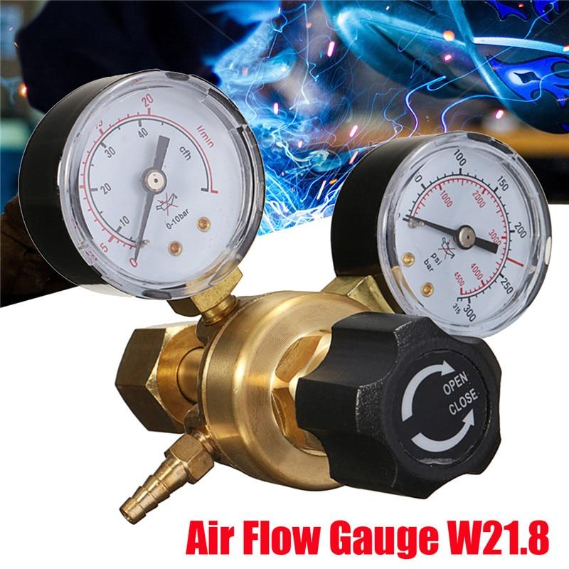 Mini Argon CO2 Gas Bottle Pressure Regulator MIG TIG Welding Flow Meter Gauge W21.8 1/4 Thread 0-20 Mpa Regulator