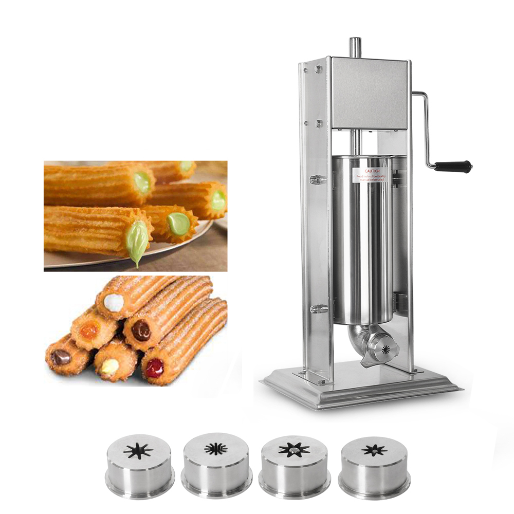 ITOP Vertical 5L/7L/10L Spanish Churrera Churros Machine Maker Heavy Duty Stainless Steel With 4 Nozzles Food Processors