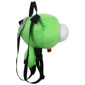 Image 4 - Neue Alien Invader Zim 3D Augen Roboter Gir Nette Gefüllte Plüsch Rucksack Grüne Tasche Weihnachten Geschenk 14 zoll
