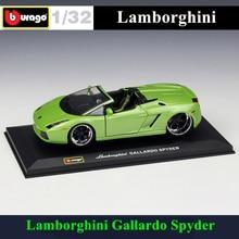Bburago 1:32 Lamborghini Gallardo Spyder simulation alloy car model plexiglass dustproof display base package Collecting gifts цена