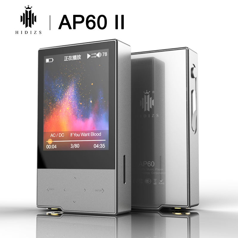 Hidizs AP60 II HiFi Potable Bluetooth 4 0 Apt-x DSD USB DAC FLAC AAC APE MP3 Music Player AKM4452VN MAX97220A AP60II AP60 II