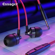Essager 有線イヤホン xiaomi サムスン電話コンピュータ 3.5 ミリメートルマイクイヤフォンでイヤホンスポーツステレオヘッドセット