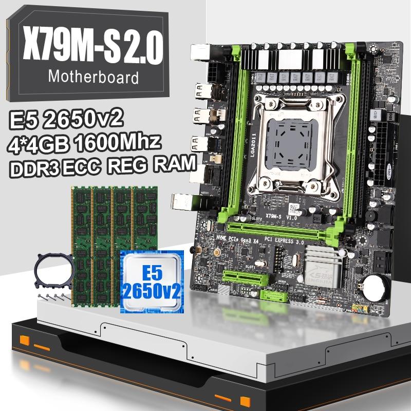 X79 lga 2011 placa base X79M-S 2,0 con XOEN E5 2650V2 Octa Core CPU y 4*4gb = 16gb DDR3 1600MHZ ECC REG RAM Procesador Intel Core™I5-8400 2,8 Ghz 9 MB LGA 1151 caja