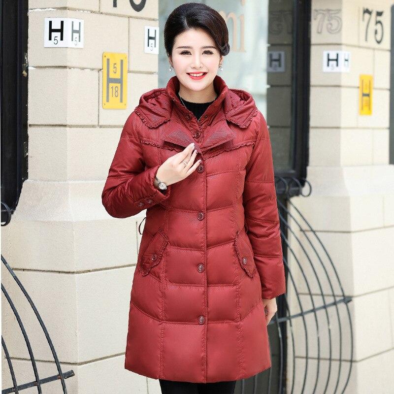 Long Winter Coat Women Down Coats Jackets Warm Woman Down Parka Warm Female Jacket Doudoune Femme Hiver 125 KJ2589