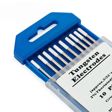 10pcs/set WZ8 White TIG Lanthanum Tungsten Electrode Professional Tig Rod for Welding