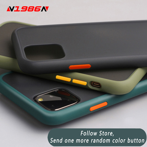 N1986N Phone Case For iPhone 11 Pro X XR XS Max 6 6S 7 8 Plus Luxury Contrast Color Frame Matte Hard PC Protective For iPhone SE(China)