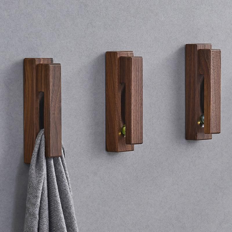 Creative Wooden Towel Hooks Wall-mounted Storage Hanger Cap Rack Sundries Holder Home Decor Bathroom Kitchen Organizer Tools