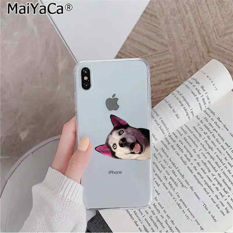 MaiYaCa Animais Husky Filhote de Cachorro Personalizado Foto Suave Caixa Do Telefone para o iphone 11 XS pro MAX 8 7 6 6S Plus X 5 5S SE XR tampa