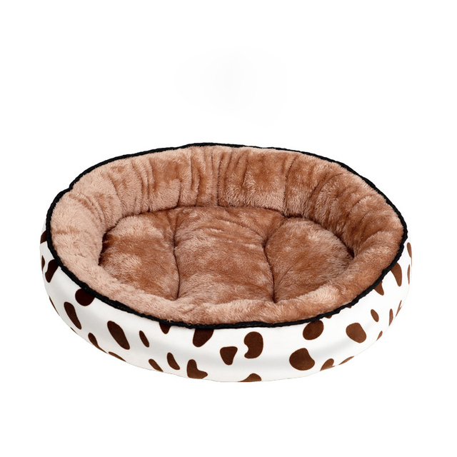 Pluche Comfort Donut hondenbed kleur bruin 1
