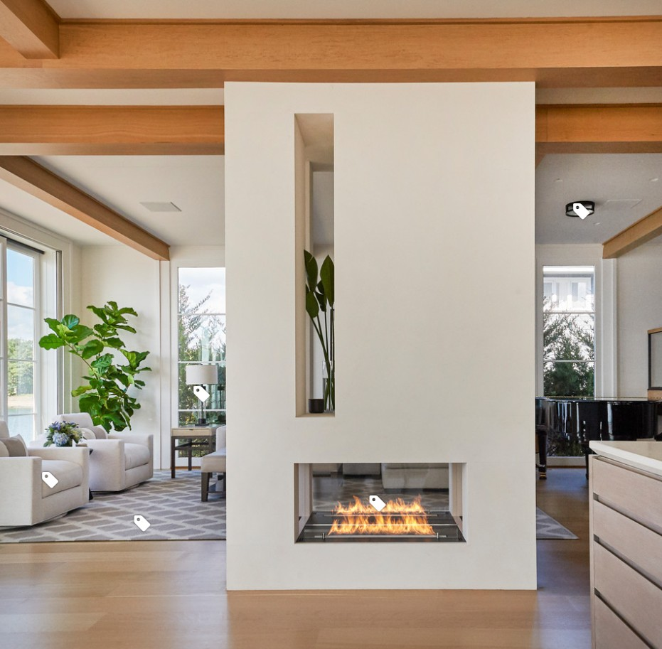 Inno Living 24 Inch Remote Control Bio Chimney Ethanol Fireplace