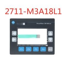 Interruptor do teclado de membrana para allen bradley panelview 300 micro 2711 m3a19l1 2711 m3a18l1 teclado de membrana (largura do cabo: 8.6mm)