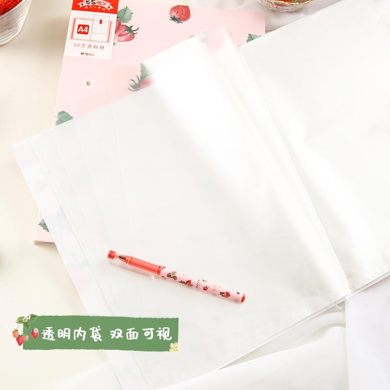 10Pcs Single File Folder Bear A4 Kawaii Paper Document Folder for School Home