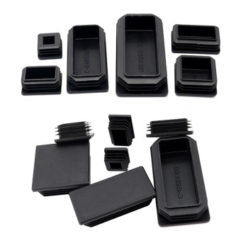 10Pcs Black Plastic Steel rectangular pipe plug Furniture Leg plug Anti Slip Feet Protector Pad Plastic square tube cap plug cap