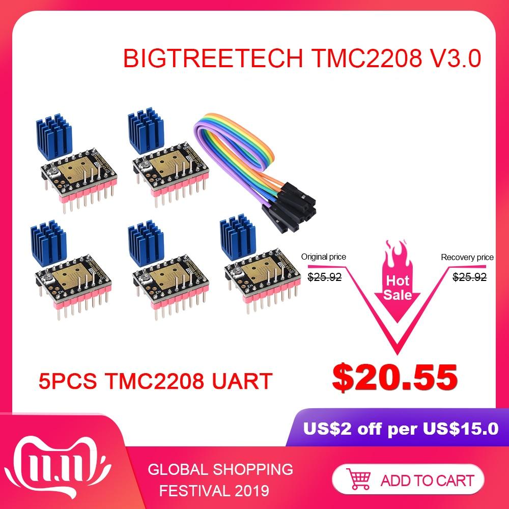 BIGTREETECH TMC2208 V3.0 Stepper Motor Driver UART 3D Printer Parts VS TMC2209 TMC2130 For Ender 3/5 SKR V1.3 Ramps 1.4 MKS GEN