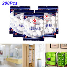 2021 New 200pcs Wardrobe Moth-proof and Moth-proof Pills, Deodorant Aroma Ball Mothballs Anti-Insect Balls Clothing Protection