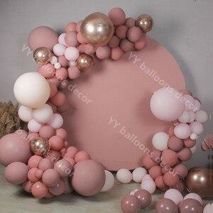 Воздушные шары в стиле ретро, розовые воздушные шары «сделай сам», гирлянда, арочный комплект, пастельные детские розовые воздушные шары, ро...