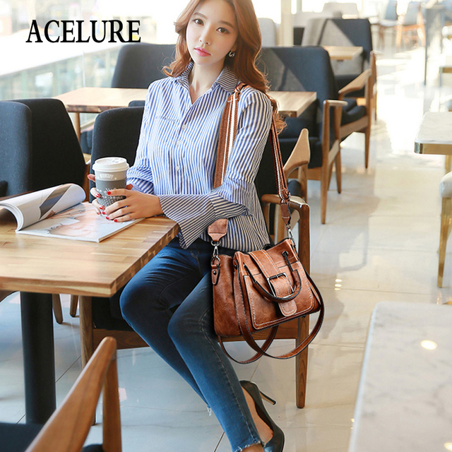 ACELURE Travel Shoulder Handbags Women Crossbody Bag Female Casual Large Totes High Quality Artificial Leather Ladies Messenger