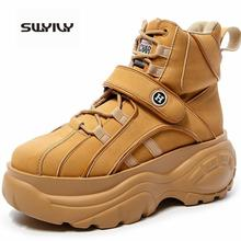 SWYIVY Woman Winter Platform Sneakers High Top 2019 Autumn F