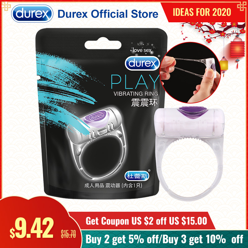 Durex O-VIBE Vibrating Ring Safe Adult Sex Toys Penis Ring Extension Cock Erotic Goods Intimate Products For Sex Couple Together