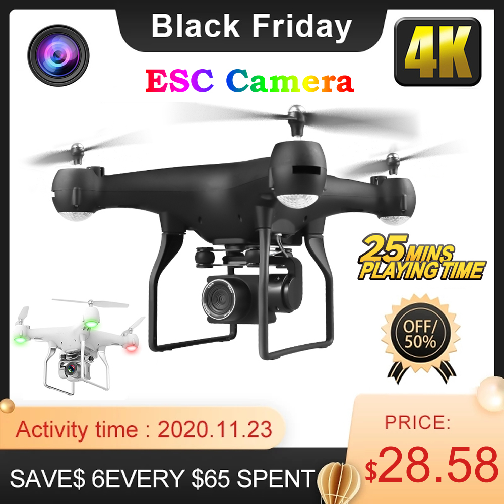RC Drone UAV with Aerial Photography 4K HD Pixel Camera Remote Control 4-Axis Quadcopter Aircraft Long Life Flying Toys JIMITU 1