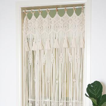Hand-woven Curtain Tapestry Household Partition Curtain Door Curtain Window Room Divider Curtain Valance Home Decoration