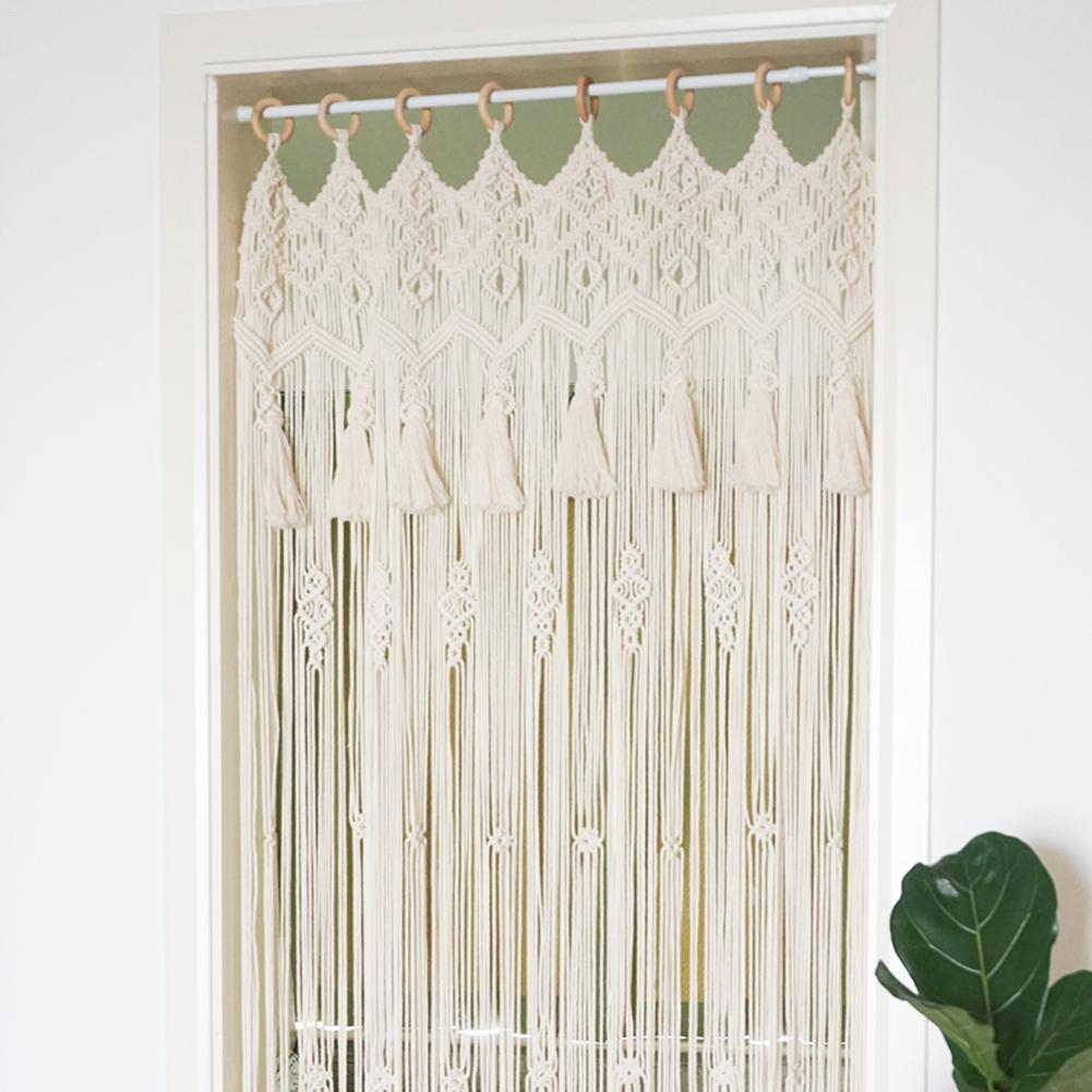 Rideau tissé à la main tapisserie ménage Partition rideau porte rideau fenêtre salle diviseur rideau cantonnière décoration de la maison