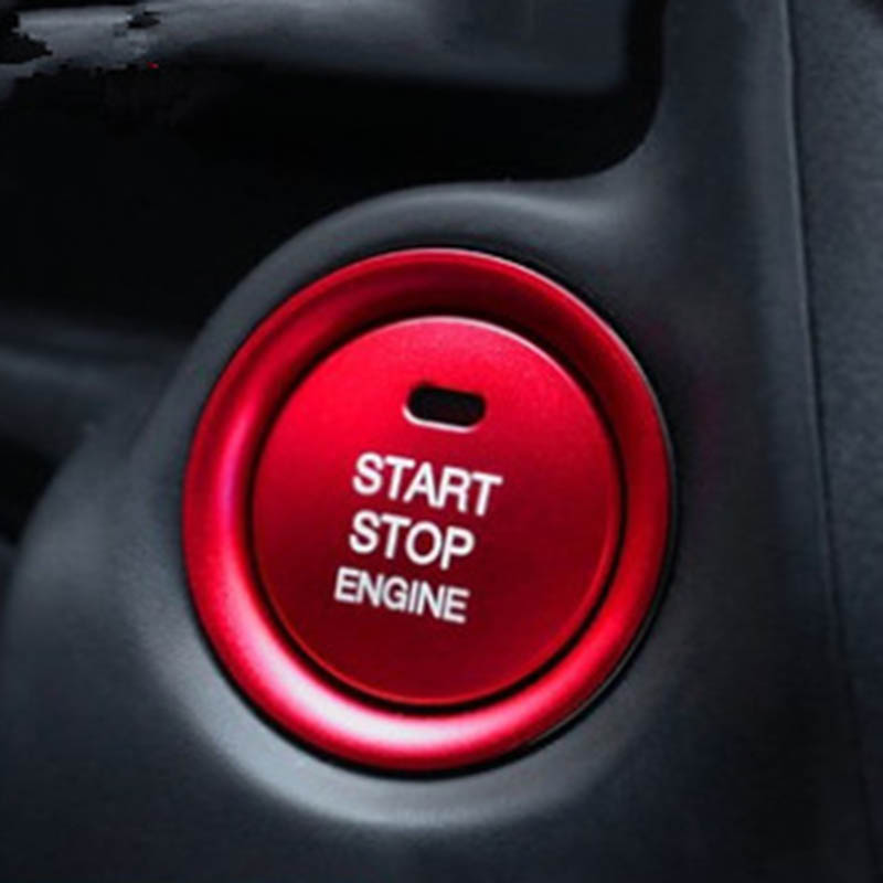 <font><b>Engine</b></font> Start Stop Push Button <font><b>Cover</b></font> Trim For <font><b>Mazda</b></font> <font><b>3</b></font> Axela CX-<font><b>3</b></font> CX-4 CX-5 (red) image