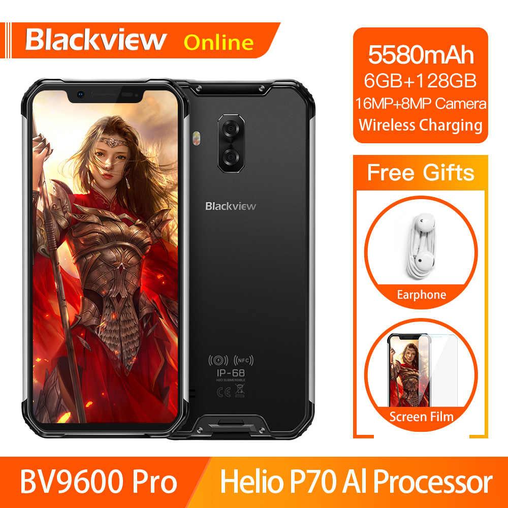 Blackview BV9600 Pro Helio P70 étanche Smartphone robuste 6GB + 128GB Android 9.0 téléphone portable 19:9 AMOLED extérieur 4G téléphone portable