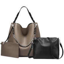 LOVEVOOK bag set women handbags large totes shoulder crossbody bags for ladies soft PU leather messenger bags clutch and purse