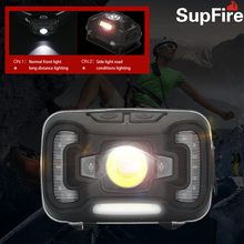New Supfire HL16 Induction Headlight Outdoor Sports Bicycle Lamp Fishing Waterproof USB Rechargeable LED headlamp Searchlight