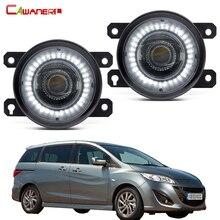 Funkcja 2w1 światło przeciwmgielne LED montaż Angel Eye światło do jazdy dziennej DRL 30W 8000lm 12V dla Mazda MPV II (LW) 1999-2006