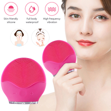 Face Cleaning Brush Electric Facial Cleanser Washing Brushes Mini Waterproof Silicone Clean