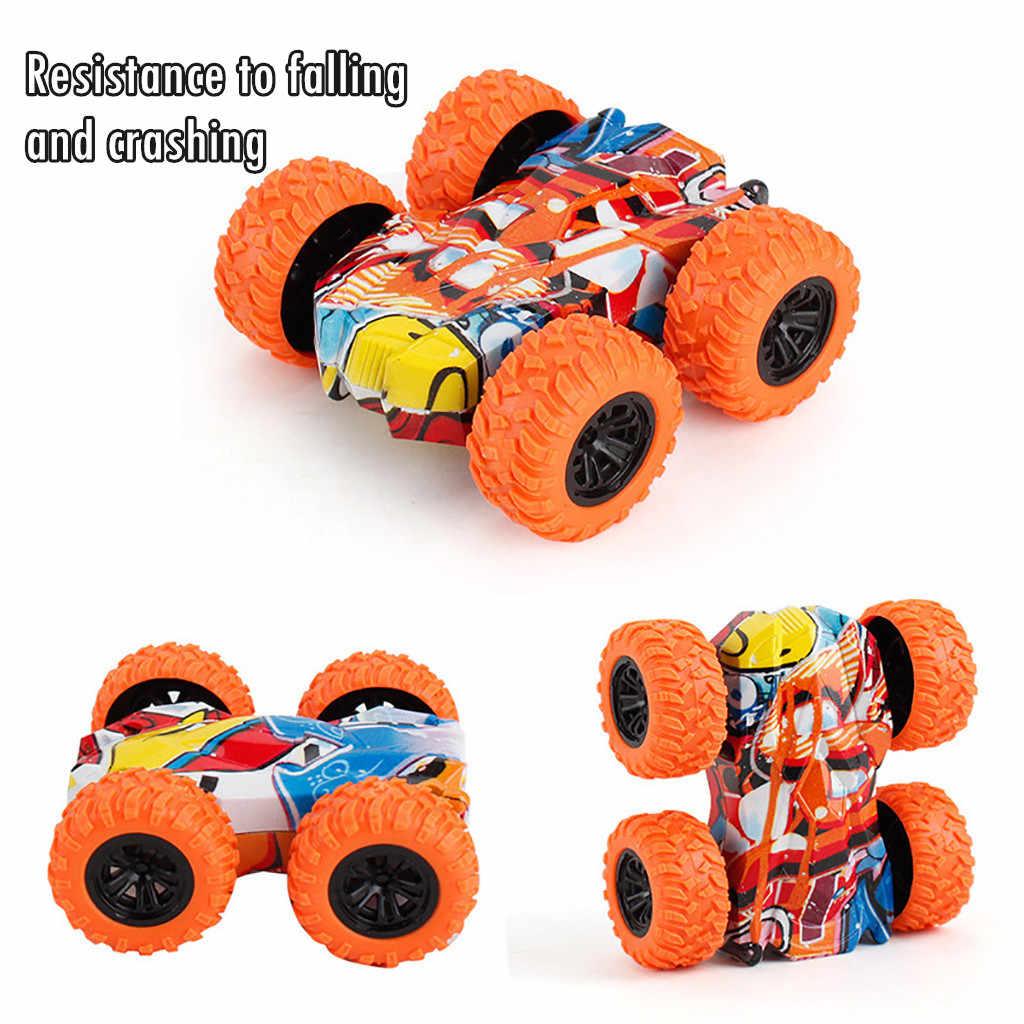 子供のおもちゃ慣性両面スタントグラフィティ車オフロードモデル車の車両キッズおもちゃギフト車コレクションプルバックモデル