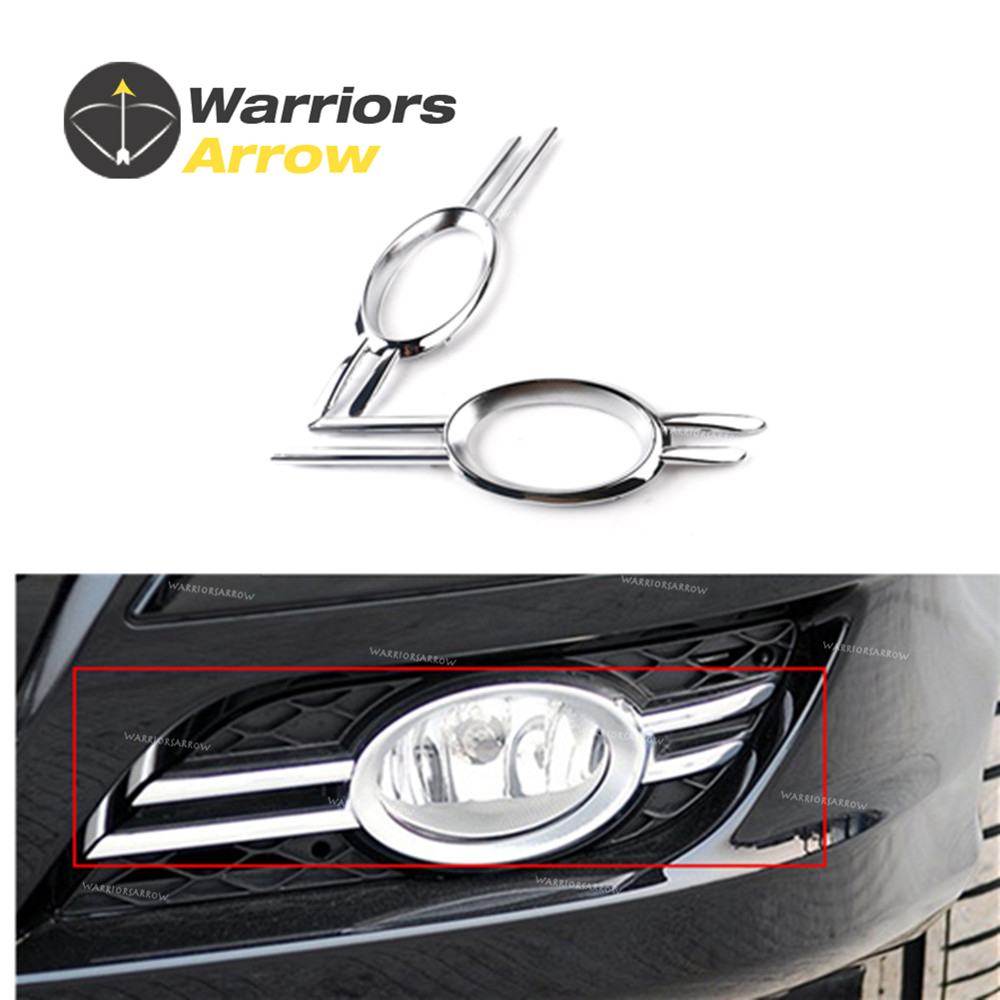 2118851174 2118851274 For Mercedes-Benz 2007-2009 W211 E320 E350 E550 Front Bumper Foglamp Fog Light Chrome Grill Trim LH RH image