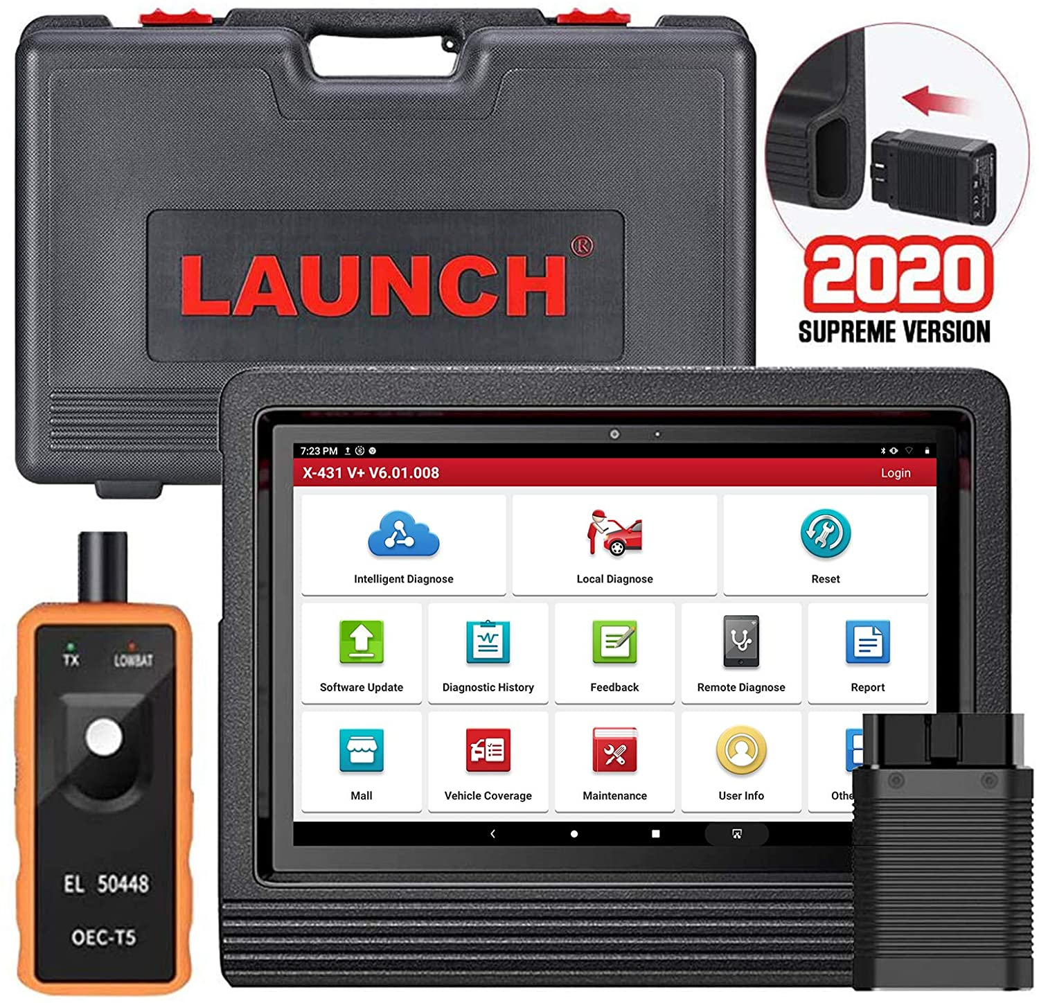 LAUNCH X431 V  Bi-Directional Full Systems Diagnostic Scan Tool Automotive OBD Key Programming Professional Car OBD2 Scanner