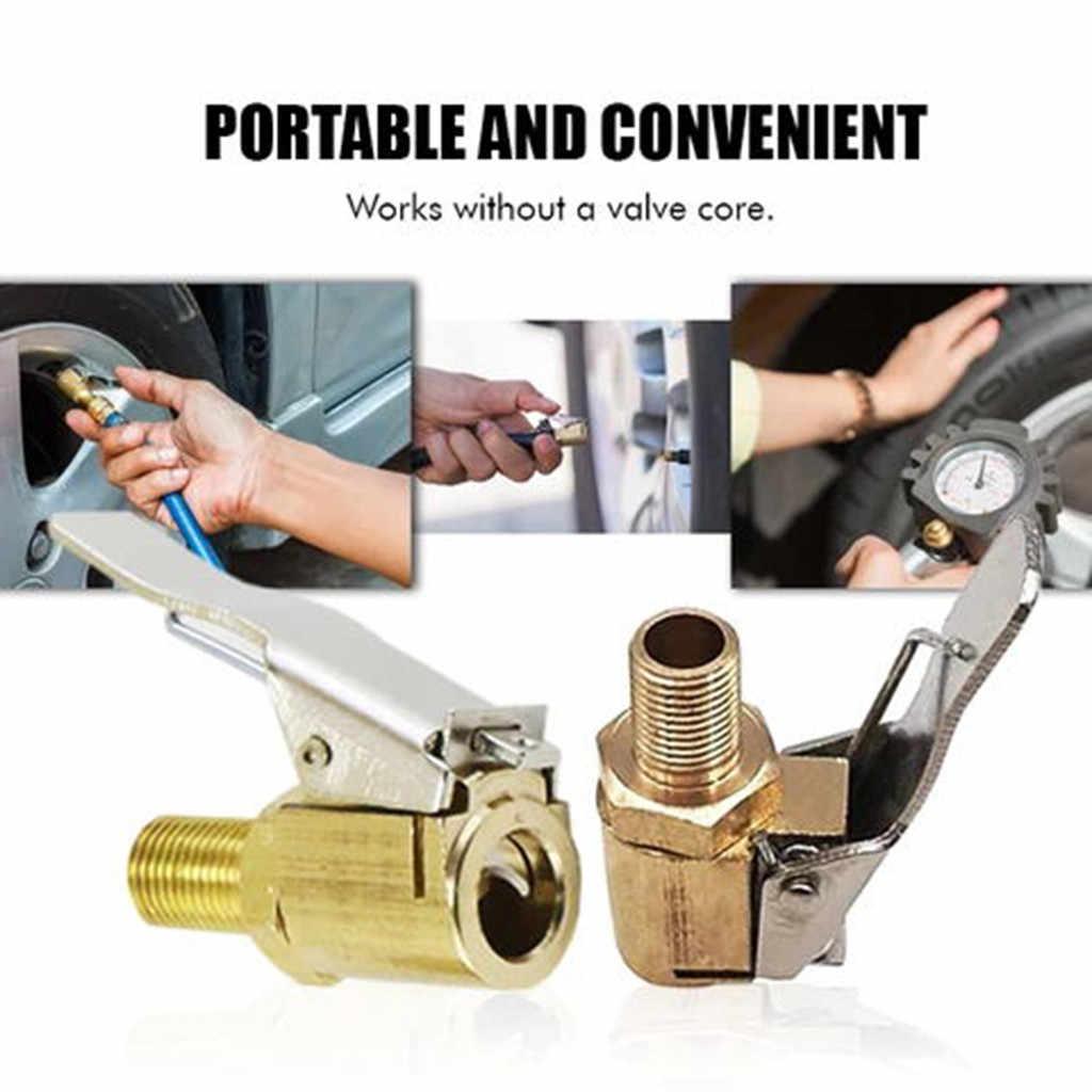 2 PC Mobil Pompa Inflator Benang Nozzle Cepat Adaptor Mobil Pompa Cepat Konversi Kepala Jenis Klip Nozzle Aksesoris Mobil