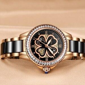 Image 2 - Reloj de oro rosa para mujer, relojes de cuarzo para mujer, reloj de pulsera femenino, regalo para esposa y caja