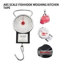 22kg portátil balança de suspensão pointer gancho balança de suspensão balança de balanço gancho de peixe bolso bagagem pesando escalas com fita de medição