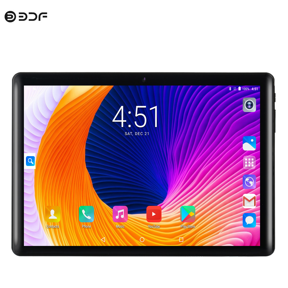 New Design 10 Inch WiFi 3G SIM Call Tablet Pc MTK 6582 Quad Core Tablets 2.5D Glass Screen 1280x800 IPS LCD Google Play 1GB+16GB